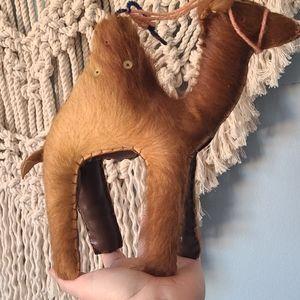Vintage Egyptian leather camel